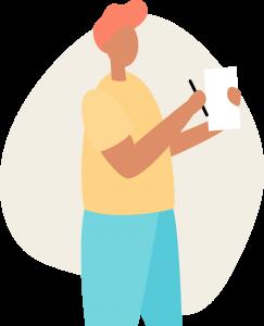 rapiboy  chico tomando nota sobre las guias prepagadas y como ayudan a incrementar la eficiencia de su ecommerce