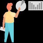 rapiboy persona analizando las estadísticas de su crecimiento en ventas